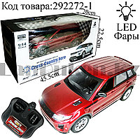 Машинка радиоуправляемая 1:14 на аккумуляторе с LED фарами Cross-Country Hero красного цвета