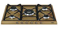 Газовая варочная панель на 70 см латунь Smeg SR775OT