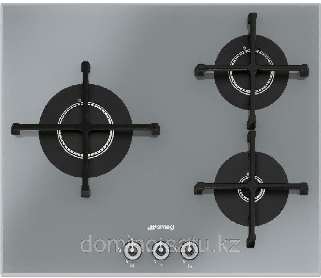 Варочная панель Smeg PV163S серебристая 3 газовые горелки - фото 1