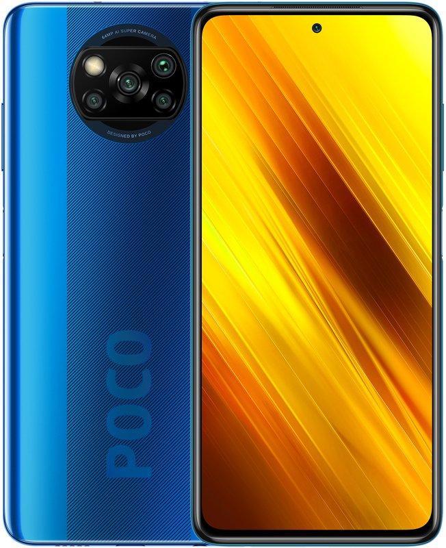 Смартфон Xiaomi Poco X3 6GB 128GB (Cobalt Blue), Синий