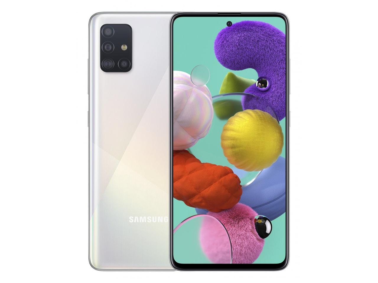 Смартфон Samsung Galaxy A51 64гб Белый