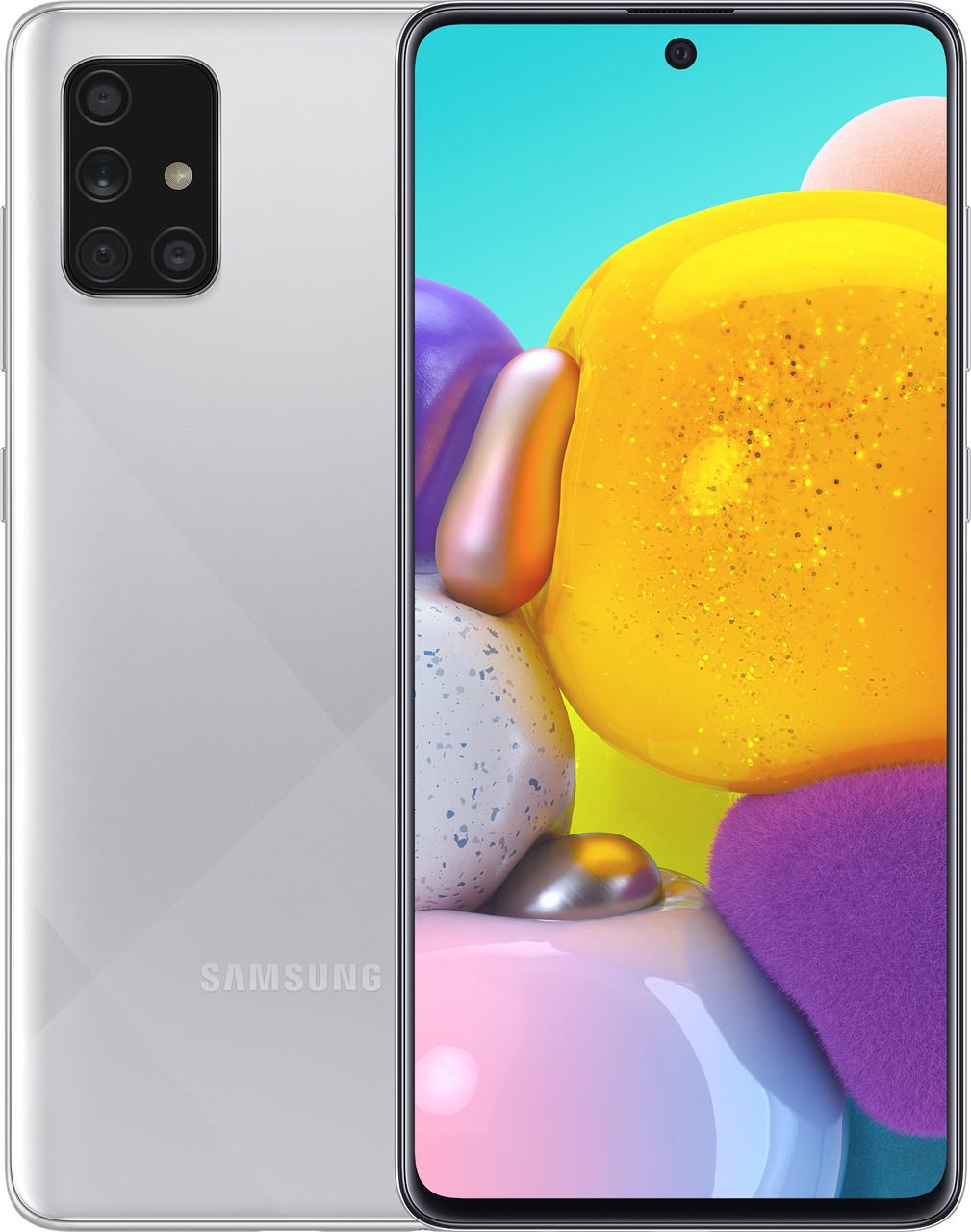 Смартфон Samsung Galaxy A71 128гб Серебристый