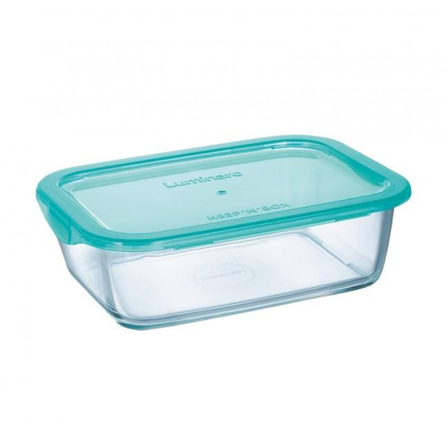 Контейнер Luminarc Keep'n Box стеклянный прямоугольный бирюза - 820 мл