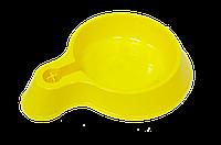 Зооник,автопоилка желтая для животных под пластиковую бутылку,1,2 л.