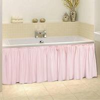 Штора для ванной 'Этель', розовый, 160х48 см