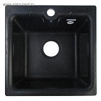 Мойка кухонная из камня GRANMILL 18, 415х415х200 мм, черная