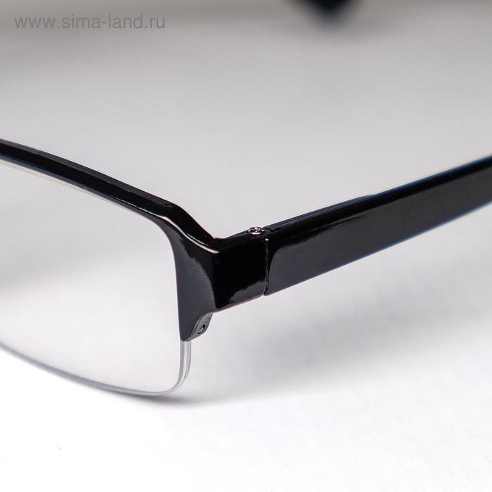 Очки корригирующие 0056, цвет черный, отгибающаяся дужка, -2 - фото 3