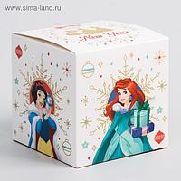 "Коробка подарочная складная ""Happy new year"", Принцессы, 9 x 9 x 9 см"
