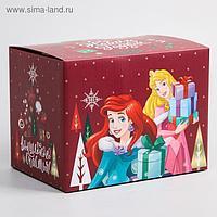 """Коробка подарочная складная """"С Новым Годом"""", Принцессы, 20 × 15 × 14 см"""