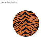 """Шар фольгированный 18"""" «Зоо тигр», круг"""