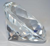 Сувенир кристалл из камня прозрачный 40 гр