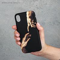 Чехол для телефона iPhone XR «Сотворение Адама», 7,6 х 15,1 см
