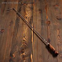 Кочерга узбекская с деревянной ручкой, с узором, 60/1см, сталь 3мм