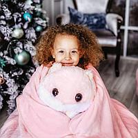 Плед-подушка хомяк 3 в 1, розовый