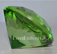 Сувенир кристалл из камня ярко-зеленый 40 гр