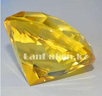 Сувенир кристалл из камня желтый 40 гр