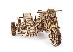 «Мотоцикл Scrambler UGR-10 с коляской» 380 деталей