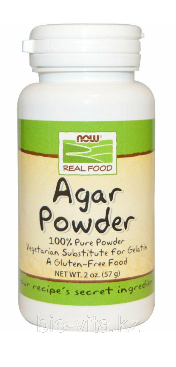 Агар - Агар.  Agar. Порошок 57 гр. Растительный желатин. Now foods