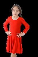 Платье рейтинговое длин.рукав без петли круглая горловина АККУ Цвет Красный Размер 34 Материал Полиамид