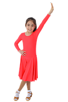 Платье рейтинговое длин.рукав без петли круглая горловина АККУ Цвет Неон Коралл Размер 34 Материал Полиамид