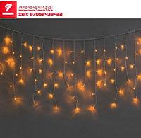 Электрогирлянда уличная «Сосульки» (100 теплых белых LED, 20 нитей, 3,5 м