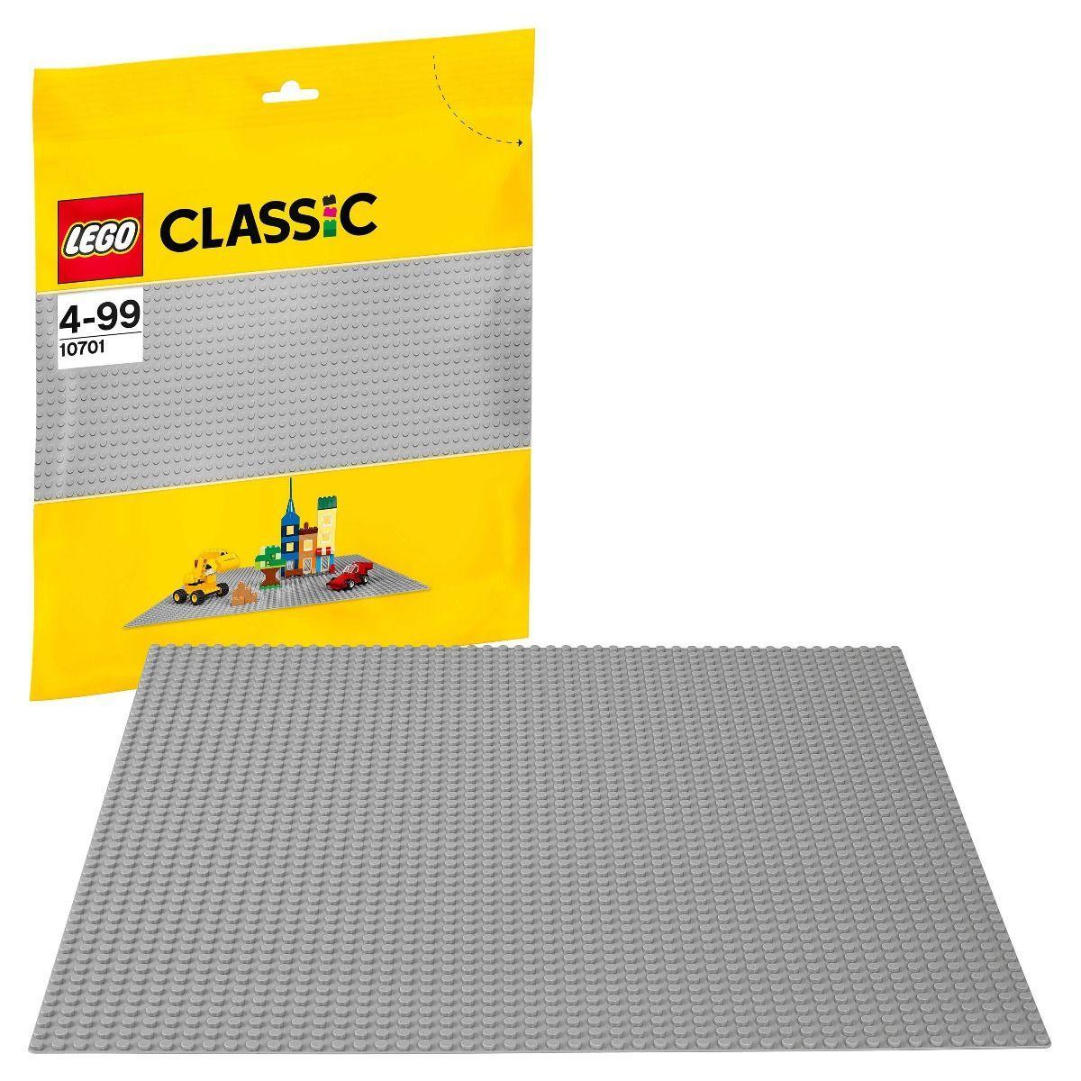 LEGO возраст 4+ : Строительная пластина серого цвета Classic 10701 - фото 1