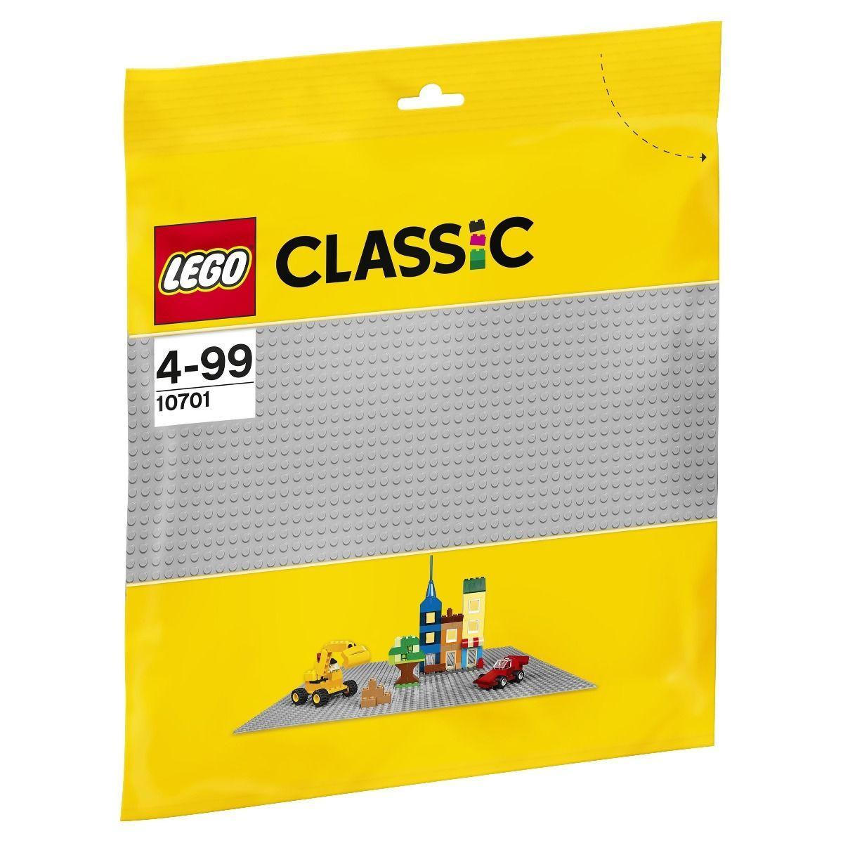 LEGO возраст 4+ : Строительная пластина серого цвета Classic 10701 - фото 4