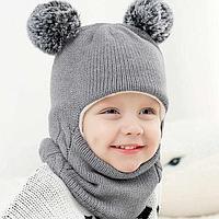Зимние шапки,комплекты для мал...