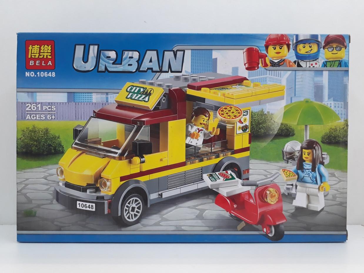 Конструктор Bela Urban 10648 261 pcs. Урбан. Фургон Пицца