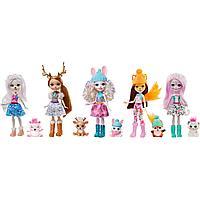Набор игровой Enchantimals Снежный день с друзьями 5 кукол+питомцы