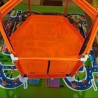 Манеж игровой оранжевый+ 10 шариков ножки черные