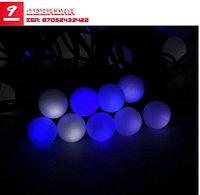 Гирлянда «Метраж» с насадками «Шарики 1,5 см», 10 м, LED-100, бело-синий, нить темная, моргает