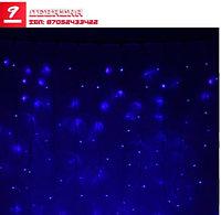 Гирлянда «Занавес», 2х9 м, 3W LED-1800-220V, синий, нить белая, без контроллер