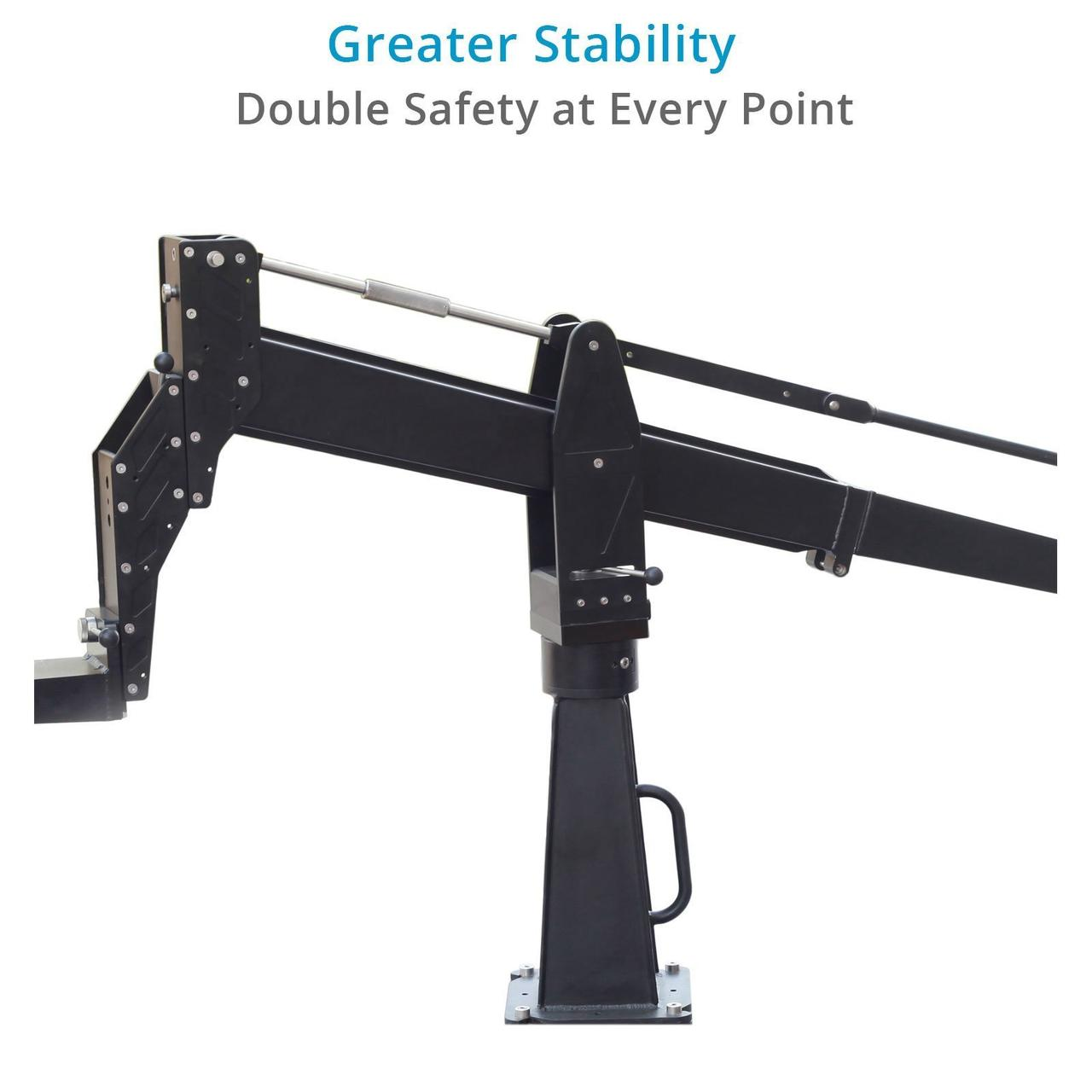Proaim Sky-Dweller 10ft Camera Jib с платформой сиденья, тележкой Marshal и центральной колонной