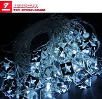 Гирлянда «Кубик Звезда» (5 м х 2,5 см Н.С. LED-20-220V)