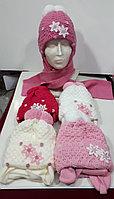 Комплект зимний для девочки:шапка и шарф, фирма Amal