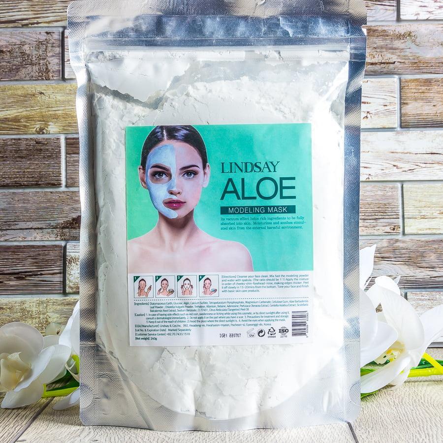 Альгинатная маска с экстрактом алоэ Lindsay Aloe Modeling Mask