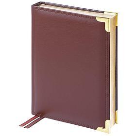 Ежедневник датированный 2021г., А4-(B5), 184л., кожа, Delucci, гладкая кожа, зол. срез