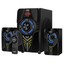 SVEN MS-2070 акустическая система с подсветкой, Bluetooth, проигрывателем USB/SD, FM-радио, дисплеем, ПДУ