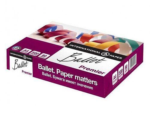 Бумага офисная Ballet Premier, А4, 80г/м2, 500л