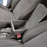 Подлокотник (Бар Люкс) Hyundai Accent/Solaris (2017-) устанавливается в подстаканник, фото 3