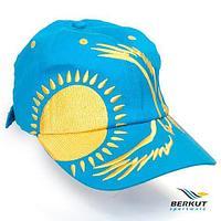 Бейсболка с 3D-вышевкой Patriot KZ BERKUT Sportware (Орел и солнце на бирюзовом)