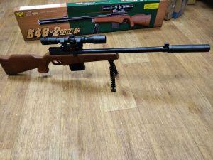 Детская снайперская пневматическая винтовка стреляет пластиковыми пульками 6 мм модель:NO.646-2 - фото 1