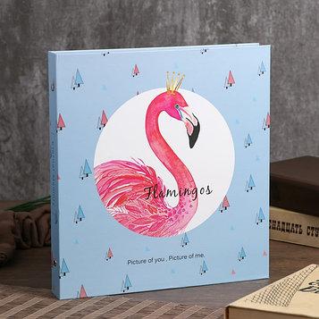 """Фотоальбом магнитный 30 листов """"Розовый фламинго"""" 28х26х4 см"""