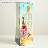 Пакет голографический под бутылку Surprise, 13 × 36 × 10 см