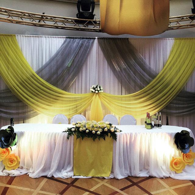 Оформление свадьбы в серо-желтом цвете (ресторан Le Dome) 3