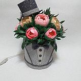 Светильник. Шляпная коробка для мужчин.Высота 30 - 35 см. Creativ  2742 - 1, фото 2