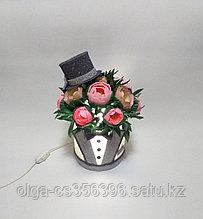 Светильник. Шляпная коробка для мужчин.Высота 30 - 35 см. Creativ  2742 - 1