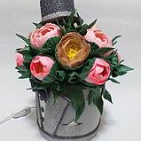 Светильник. Шляпная коробка для мужчин.Высота 30 - 35 см. Creativ  2742 - 1, фото 5