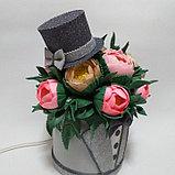 Светильник. Шляпная коробка для мужчин.Высота 30 - 35 см. Creativ  2742 - 1, фото 4